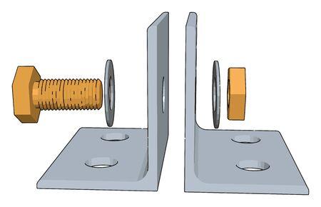 White lever, illustration, vector on white background.