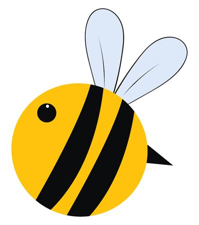 Big fat bee, illustration, vector on white background.