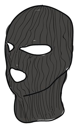 Balaclava, illustration, vector on white background.