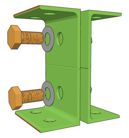 Green lever, illustration, vector on white background. Illustration