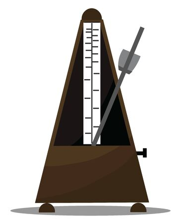 A metronome device that produces sound at regular interval that can be set by the user in beats per minutes, vector, color drawing or illustration. Çizim