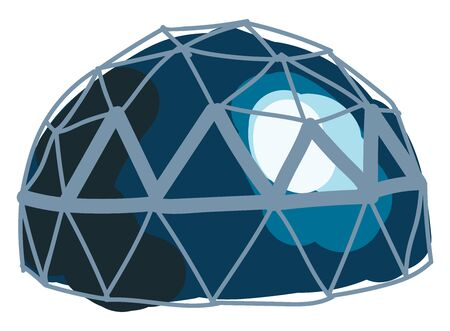 Dome, illustration, vector on white background.