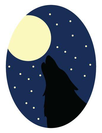 Full moon, illustration, vector on white background.
