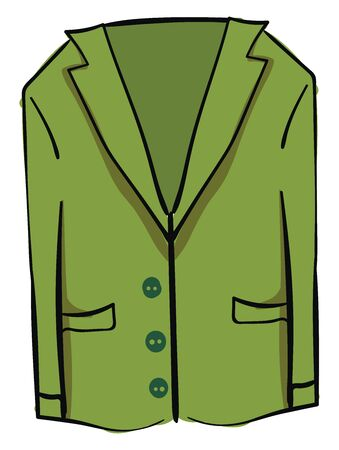Green blazer, illustration, vector on white background.