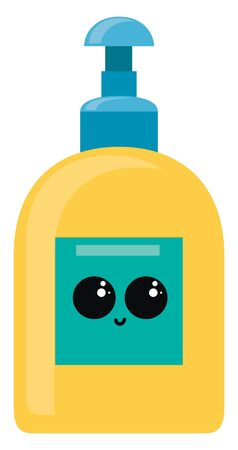 Yellow hand soap, illustration, vector on white background. 写真素材 - 132703822