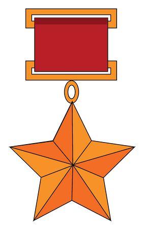 Soviet union star, illustration, vector on white background.