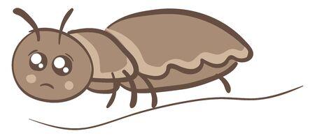 Sad lice, illustration, vector on white background.