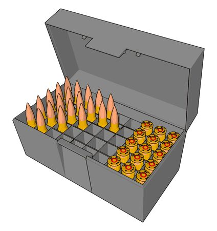 Bullets in box, illustration, vector on white background.