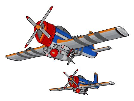 Retro bomber, illustration, vector on white background.