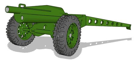 Cannon carrier, illustration, vector on white background.