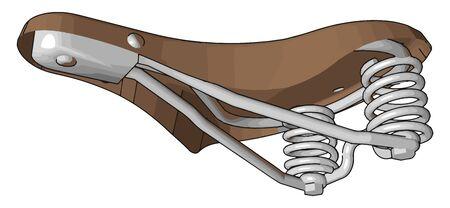 Bike seat, illustration, vector on white background.