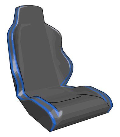 Car seat, illustration, vector on white background.