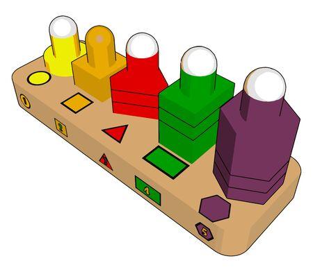 Various forms toys, illustration, vector on white background. Vektoros illusztráció