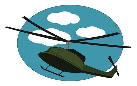 Choper verde, ilustración, vector sobre fondo blanco.
