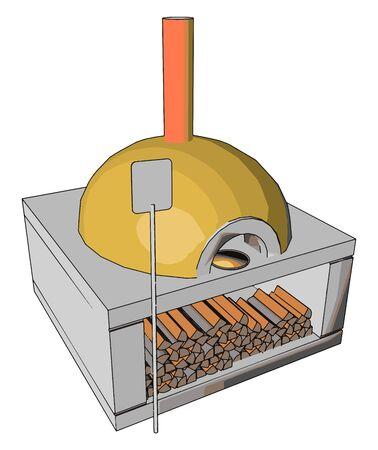 Yellow owen, illustration, vector on white background.