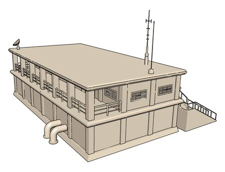 Warehouse, illustration, vector on white background. Illustration