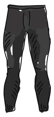 Black pants, illustration, vector on white background.