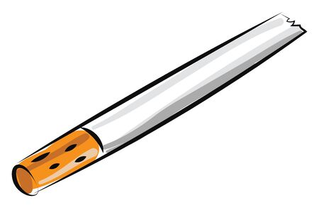 Cigarette, illustration, vector on white background.