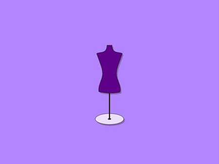 Mannequin, illustration, vector on white background. Archivio Fotografico - 132940763