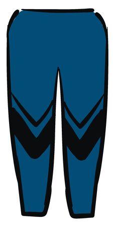 Blue gym cloth, illustration, vector on white background. Иллюстрация