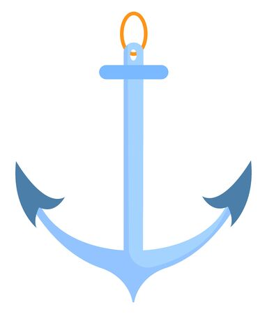 Blue anchor, illustration, vector on white background. Banque d'images - 132845181