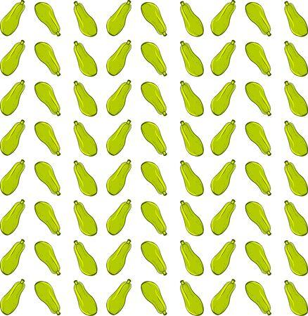 Zucchini wallpaper, illustration, vector on white background. Illusztráció
