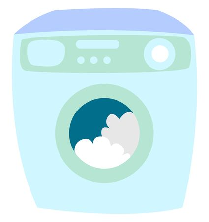 Washer, illustration, vector on white background. Stock Illustratie