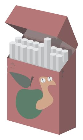 Pack of cigarettes, illustration, vector on white background. Ilustrace