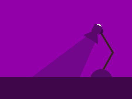 Night lamp, illustration, vector on white background. Ilustrace