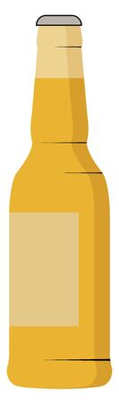 Beer bottle, illustration, vector on white background. 向量圖像