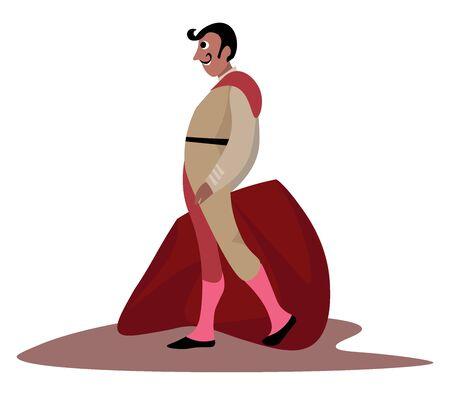 Matador man, illustration, vector on white background. Illustration