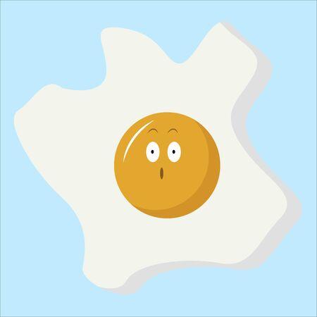 Broken egg, illustration, vector on white background.