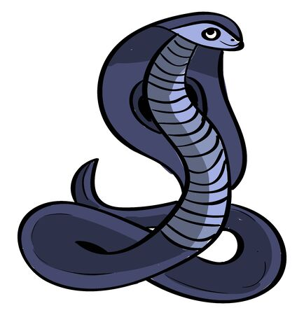Purple cobra, illustration, vector on white background.