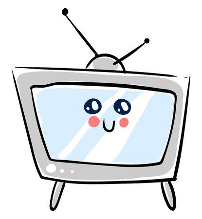 Cute TV, illustration, vector on white background.