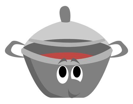 Soup, illustration, vector on white background.