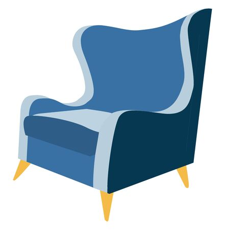 Blue chair, illustration, vector on white background.