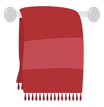 Red towel, illustration, vector on white background.