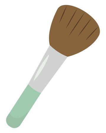 Make up brush, illustration, vector on white background.