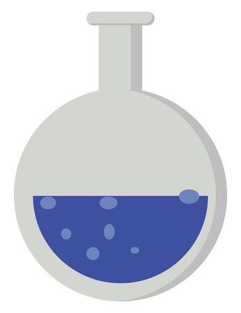 Chemical pot, illustration, vector on white background.