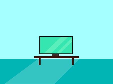 TV set, illustration, vector on white background.