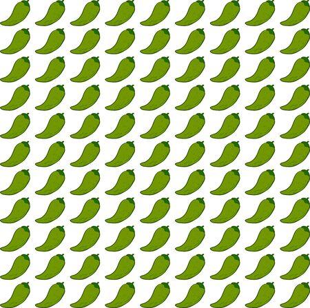 Green pepper wallpaper, illustration, vector on white background.