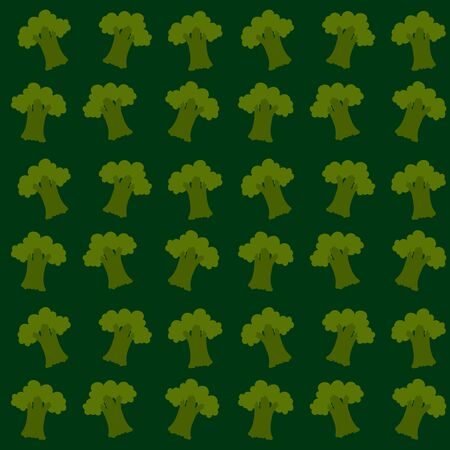 Broccoli wallpaper, illustration, vector on white background.