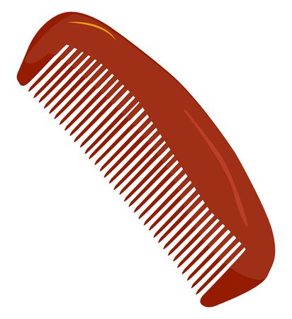 Red comb, illustration, vector on white background.