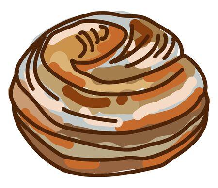 Lemon pie, illustration, vector on white background.