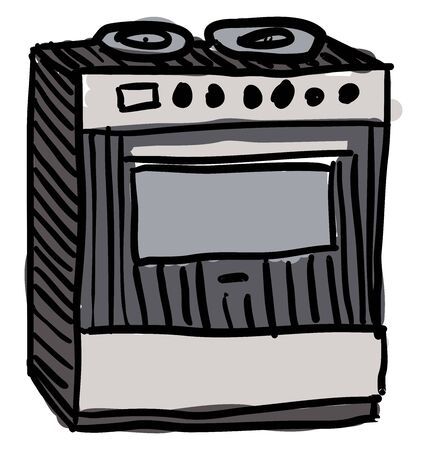 Oven, illustration, vector on white background.