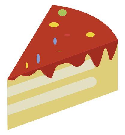 Piece of cake, illustration, vector on white background. Иллюстрация
