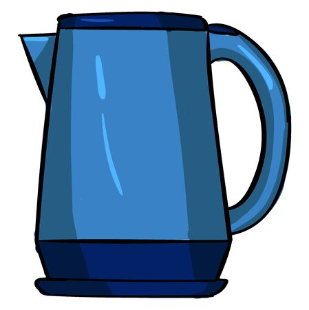 Electric kettle, illustration, vector on white background.