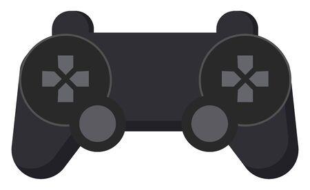 Game controler, illustration, vector on white background.