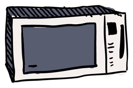 Microwave, illustration, vector on white background. 向量圖像