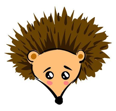 Little hedgehog, illustration, vector on white background. Reklamní fotografie - 132944533